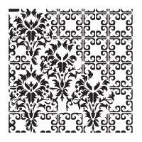 Šablona Cadence, kolekce HomeDeco 25x25 cm - ornamenty 3
