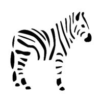 Šablona Cadence, 15x20 cm - zebra