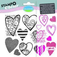 Gelová razítka StampoClear, srdíčka