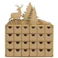 Adventní kalendář dřevěný - zimní krajinka
