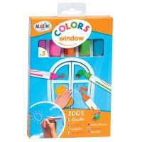 Křídové fixy na okna a zrcadla, pastelové barvy