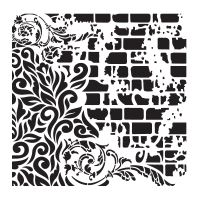 Šablona Cadence, kolekce HomeDeco, 45 x 45 cm - ornamenty 5