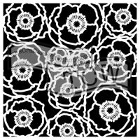 """Šablona 12""""x12"""" (30,5 x 30,5 cm), Poppy field, Vlčí máky"""