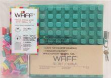 Kreativní tajný deník WAFF, glitter malachite