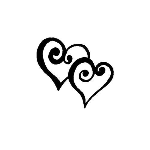 Dřevěné razítko, velikost C - srdce v páru