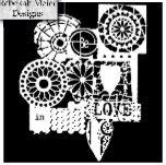 "Šablona 6""x6"", Stencil Be In Love, mini"