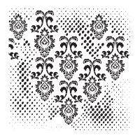 Šablona Cadence, kolekce HomeDeco, 45 x 45 cm - ornamenty 1