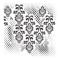 Šablona Cadence, kolekce HomeDeco, 45x45 cm - ornamenty 1