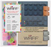 Kreativní deník WAFF, velikost A6, glitter navy