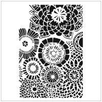 """Šablona 6""""x6"""" (15,2 x 15,2 cm), Wallflowers"""