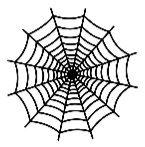 "Šablona 6""x6"" , Spiderweb, mini"