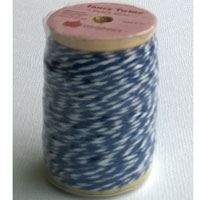 Twine, dvoubarevný stáčený provázek, 25 m, modro - bílá