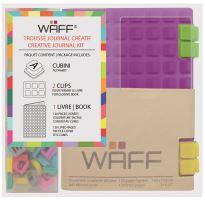 Kreativní deník WAFF, velikost A7, purple