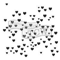 """Šablona 12""""x12"""" (30,5 x 30,5 cm), Micro Hearts"""