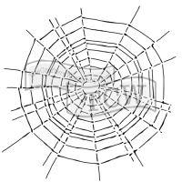 """Šablona 12""""x12"""" (30,5 x 30,5 cm), Scary Web"""
