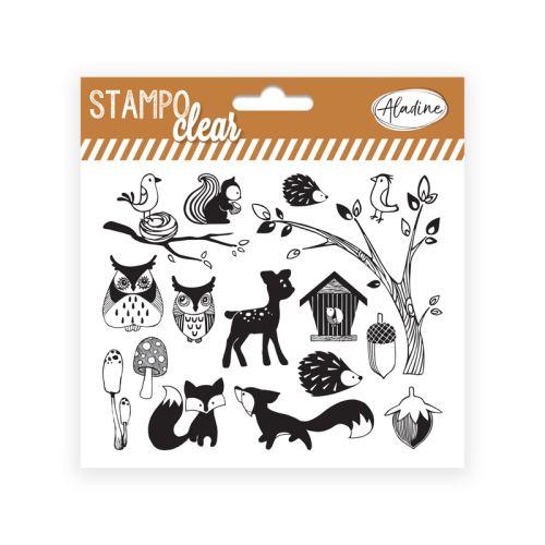 Gelová razítka Stampo CLEAR - Lesní zvířátka 1