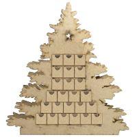 Adventní kalendář dřevěný - vánoční stromeček