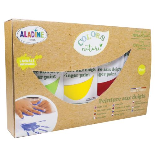 Prstové barvy - sada, ColorsNature,  4 x 80ml