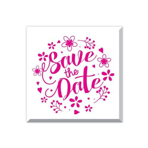 Dřevěné razítko - Save the date 1