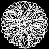 "Šablona 6""x6"" (15,2 x 15,2 cm), Big Flower"