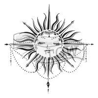 """Šablona 6""""x6"""" (15,2 x 15,2 cm), Celestial Sun"""