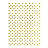 Rýžový papír A3 - metalické puntíky - zlaté