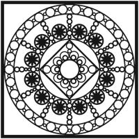 """Šablona 12""""x12"""" (30,5 x 30,5 cm), Byzantine"""