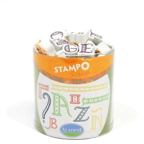 Aladine razítka StampoScrap, Abeceda, 47 ks