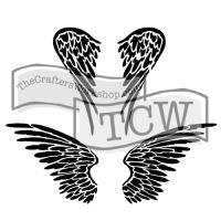 """Šablona 6""""x6"""" , Angel wings, mini"""