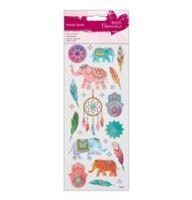Samolepky - sloni a lapač snů