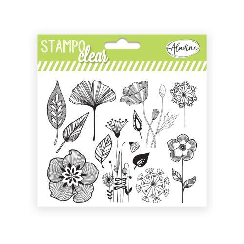 Gelová razítka Stampo CLEAR - Kytičky a vlčí máky 1