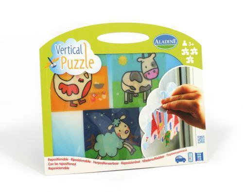 Vertikální okenní puzzle, Na farmě, 6-9-12 dílků, od 3 let