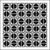 "Šablona 12""x12"" (30,5 x 30,5 cm), Circles in Squares"