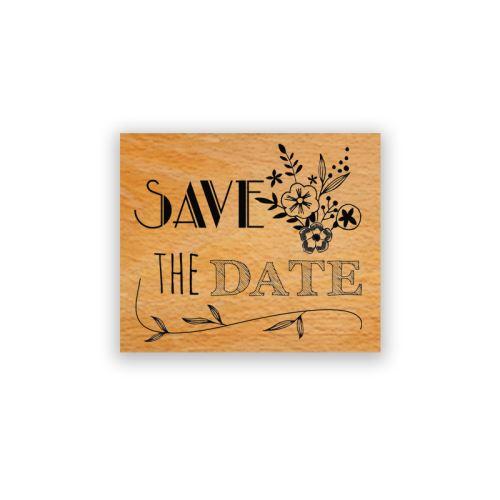 Dřevěné razítko - Save the date, budeme se brát! 1