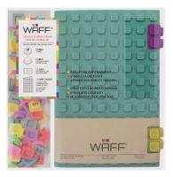Kreativní deník WAFF, velikost A5, glitter malachite