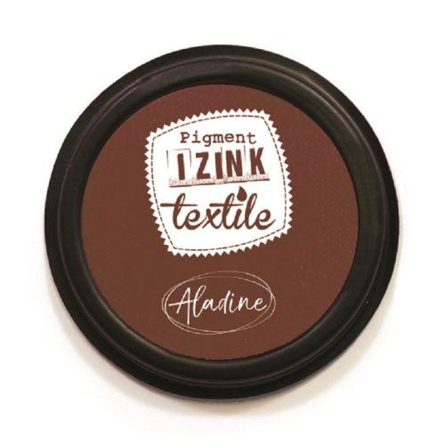 Razítkovací polštářek na textil Izink - hnědý