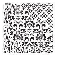 Šablona Cadence, kolekce HomeDeco 25x25 cm - ornamenty 2