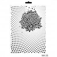 Šablona Cadence, 25x30 cm - chryzantéma