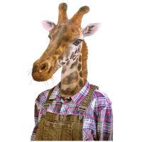 Nažehlovací nálepka, žirafa - 21 x 30 cm