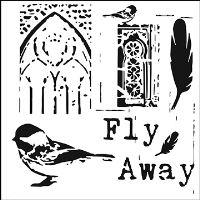 """Šablona 6""""x6"""" , Fly Away, mini"""